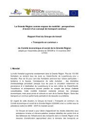 Transports : rapport final - Grande Région