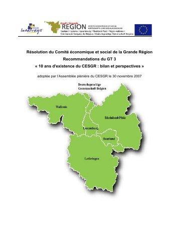 10 ans : bilan et perspectives - Grande Région