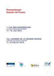 Pressedossier - Grande Région
