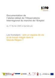 Documentation Atelier-Débat OIE Frontaliers - Grande Région