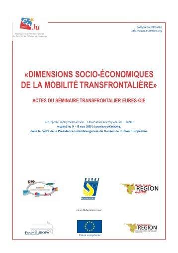 Dimensions socio-économiques de la mobilité ... - Grande Région