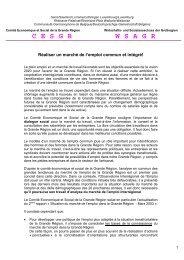 7e Sommet CESGR / Réaliser un marché de l ... - Grande Région