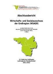 12. Gipfel - Abschlussbericht WSAGR (pdf - 8647 Ko) - Grande Région