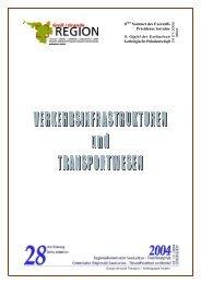Bericht Verkehrsinfrastrukturen und ... - Grande Région
