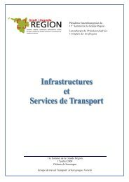 Rapport infrastructures et services de transport - Grande Région