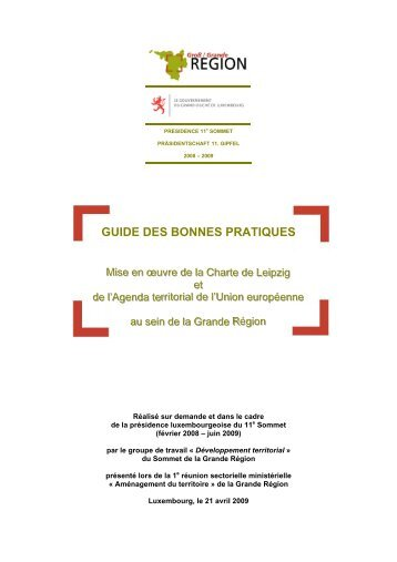 Guide des bonnes pratiques - Grande Région