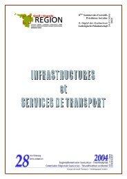 Rapport : Infrastructures et services de transport ... - Grande Région