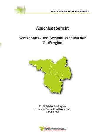 11. Gipfel - Abschlussbericht (Luxemburg) (pdf ... - Grande Région