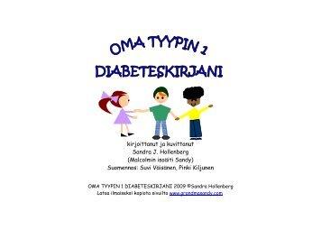 Oman tyypin 1 diabeteskirjani - GrandmaSandy.com