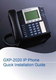 Grandstream GXP 2020 Quick Installation Guide - Goldfish