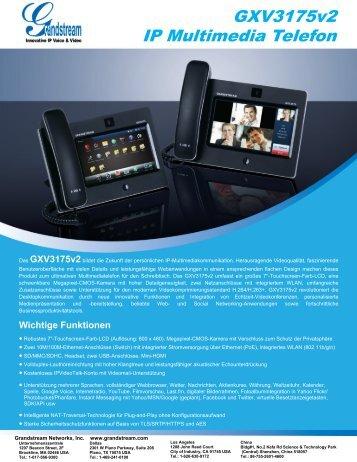 GXV3175v2 IP Multimedia Telefon - Grandstream Networks