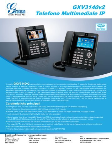 GXV3140v2 Telefono Multimediale IP - Grandstream Networks