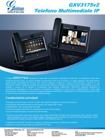 GXV3175v2 Telefono Multimediale IP - Grandstream Networks