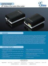 GXV3500 IP Video Encoder/Decoder - Grandstream Networks