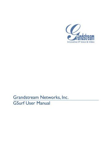 Grandstream Networks GXV31XX User Manual