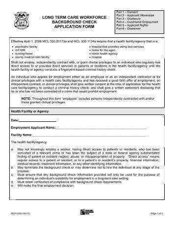 Consent To A Criminal Record Check Form