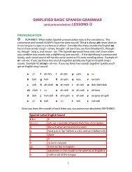 SIMPLIFIED BASIC SPANISH GRAMMAR - Granite School District