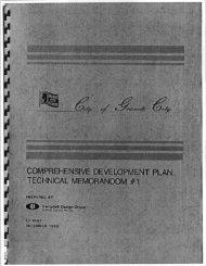 Comprehensive Development Plan Technical Memorandum