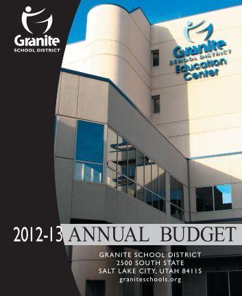 Budget 2013 - Granite School District