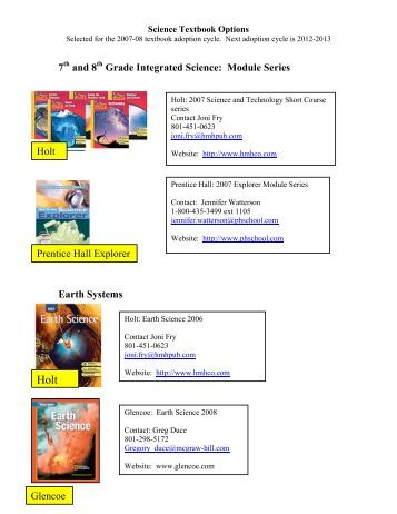 Science Texbook Options.pdf - Granite School District