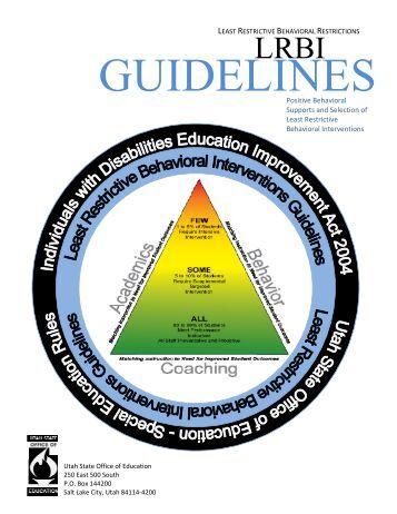 Utah's Least Restrictive Behavioral Interventions Guidelines
