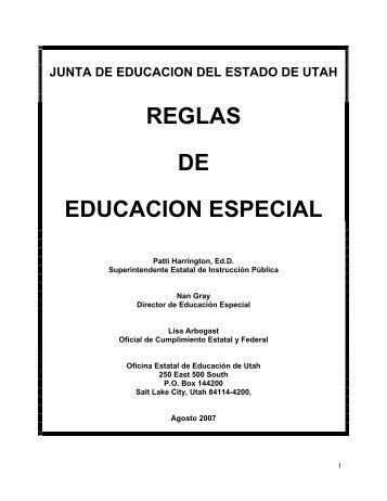 REGLAS DE EDUCACION ESPECIAL - USOE - Utah.gov