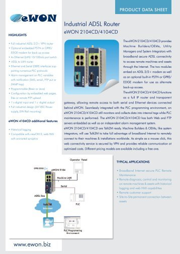 Download the product data sheet by clicking here. - Grant Industrial ...