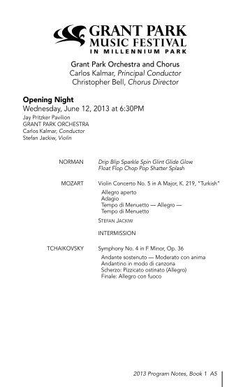 Program Notes PDF - The Grant Park Music Festival