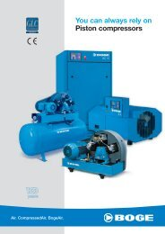 You can always rely on Piston compressors - Granzow