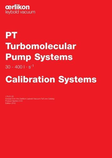 PT Turbomolecular Pump Systems Calibration Systems - Vacuum ...