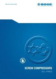 SCREW COMPRESSORS - Arko technology, as