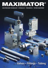 High Pressure Valves, Fittings and Tubing - Granzow