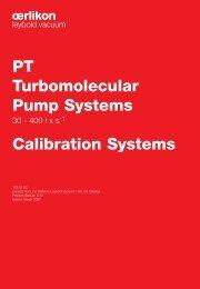 PT Turbomolecular Pump Systems Calibration Systems - Granzow