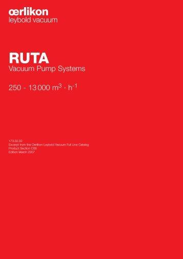 Vacuum Pump Systems 250 - 13 000 m · h - Granzow