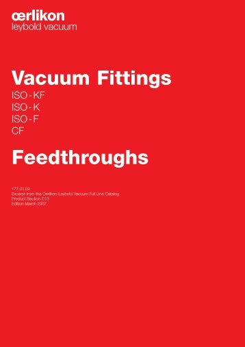 Vacuum Fittings Feedthroughs - Granzow