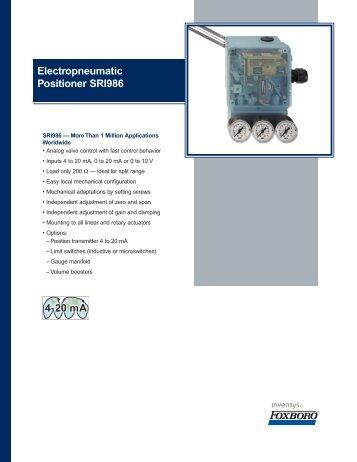 Electropneumatic Positioner SRI986 - Granzow