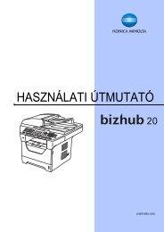 Konica Minolta Bizhub 20 Felhasználói kézikönyv