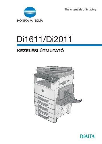 Konica Minolta Di1611/2011- 7216/7220 Használati utasítás letöltése