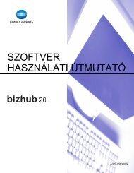 Konica Minolta Bizhub 20 Szoftver Felhasználói kézikönyv