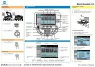 Konica Minolta Bizhub C203 Gyors tájékoztató