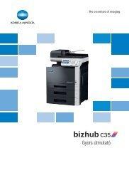 Konica Minolta Bizhub C35 Felhasználói kézikönyv