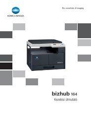 Konica Minolta Bizhub 164 Felhasználói kézikönyv - GRAPHAX.HU ...