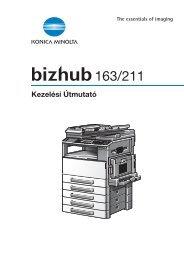 Konica Minolta Bizhub 163 Felhasználói kézikönyv