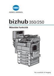 Konica Minolta Bizhub 250 Felhasználói kézikönyv - GRAPHAX.HU ...