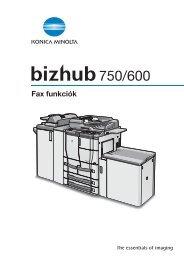 Konica Minolta Bizhub 600 Fax Kézikönyv - GRAPHAX.HU ...