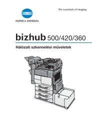 Konica Minolta Bizhub 360 Network Scan kézikönyv