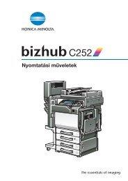 Konica Minolta Bizhub C252 Print kézikönyv - GRAPHAX.HU ...