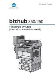 Konica Minolta Bizhub 250 Network Scan Kézikönyv letöltése