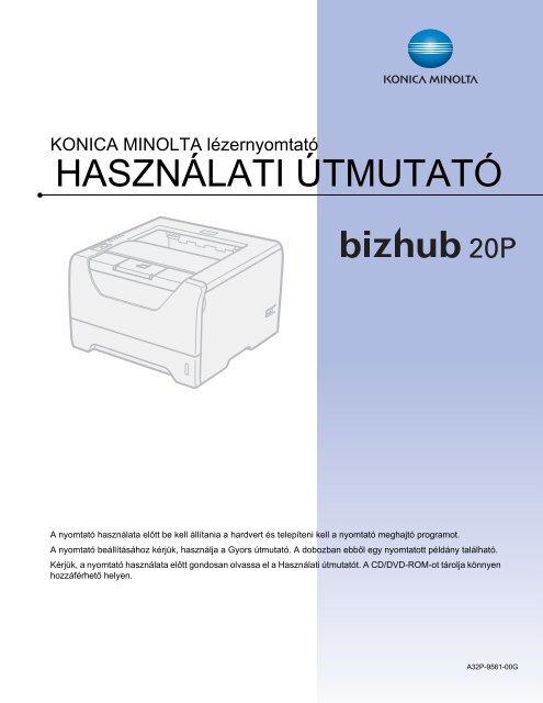 Konica Minolta Bizhub 20P Használati útmutató letöltése