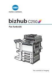 Konica Minolta Bizhub C250 Fax kézikönyv